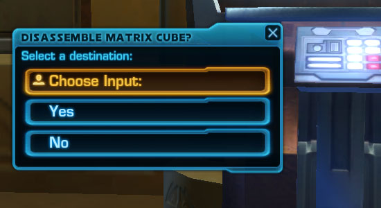 Assembling Matrix Cubes (Relic Items)