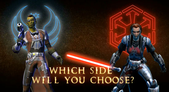 TOR Fan Friday: Choose Your Side - Smuggler vs. Sith Warrior