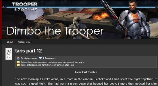 Fan Fiction Spotlight: Dimbo The Trooper